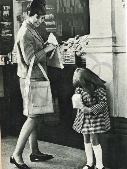 1940s Saddle Stitch Handbag
