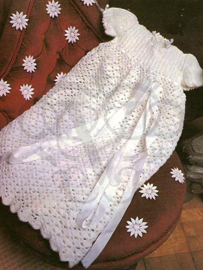 Baby Christening Gown Crochet Pattern