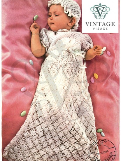 Baby Christening Gown Hat Crochet Pattern Cool Crochet Christening Gown Pattern