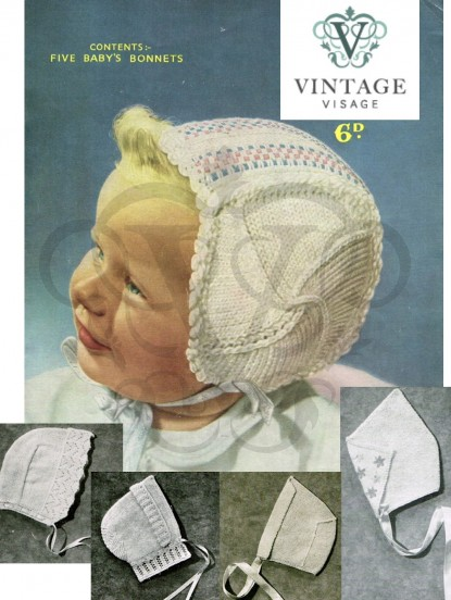 Vintage Knitting Pattern For 6 Boys Helmet Hats Aged 2 8 Years