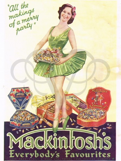 Vintage Advert for Mackintoshs toffees