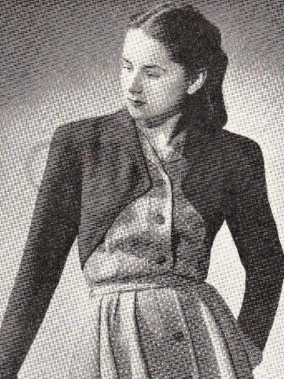 Wartime Knitting Patterns : 1940s Bolero jacket knitting pattern