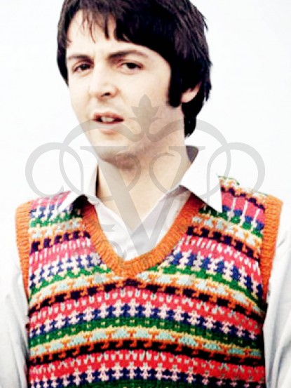 Mystery tour- Make a knitted fair isle vest like Paul McCartneys ...