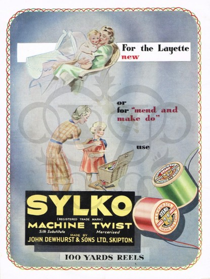 1940s make do and mend Sylko sewing thread advert- orig...