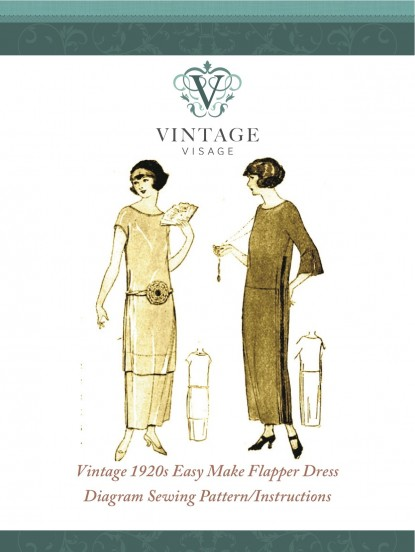 1920s easy to make flapper dress sewing pattern