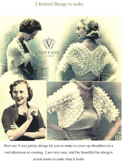 How To Make 3 Shrugs 2 Very Easy Vintage Knitting Pattern