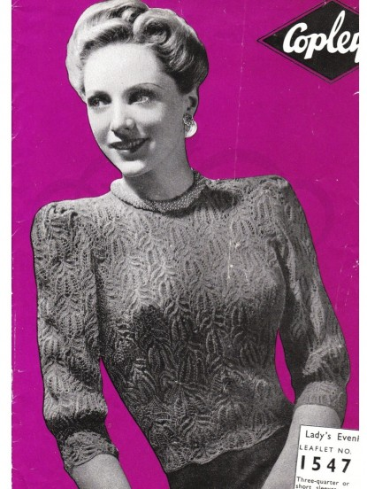 e89fde00e555 Vintage Knitting Pattern-How to make a 1940s lace jumper from Call the  Midwife