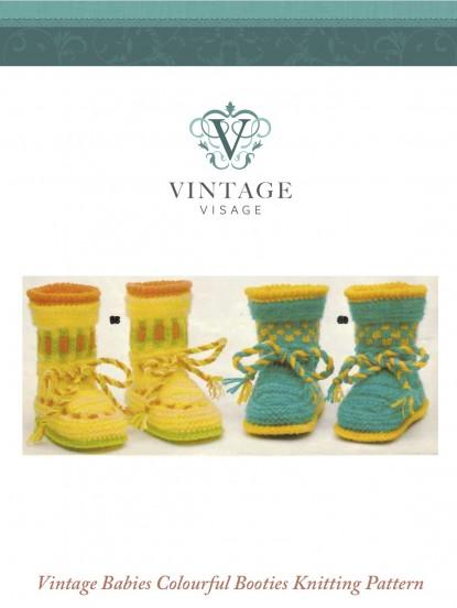 f045b1e593e 2 Pairs of Colourful Babies Booties- 3-6 months- Knitt.