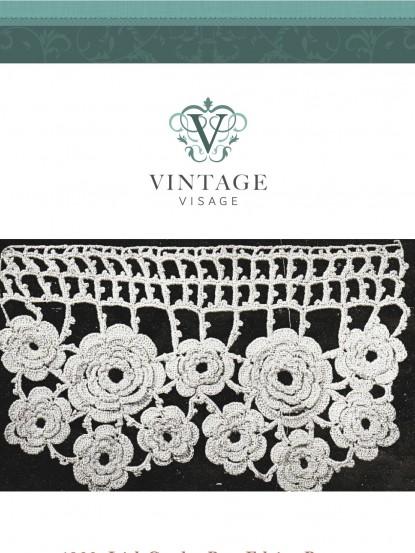 1890s Rose Crochet Lace Edging
