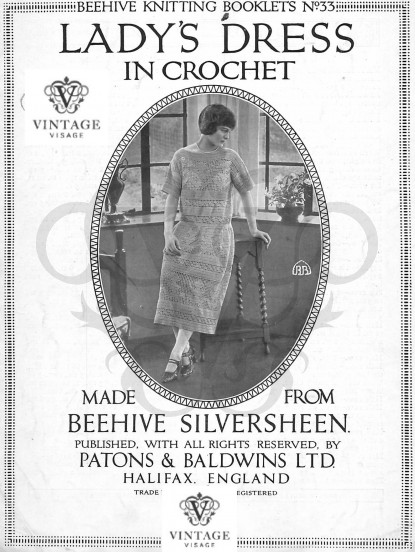 1920s textured dress knitting pattern