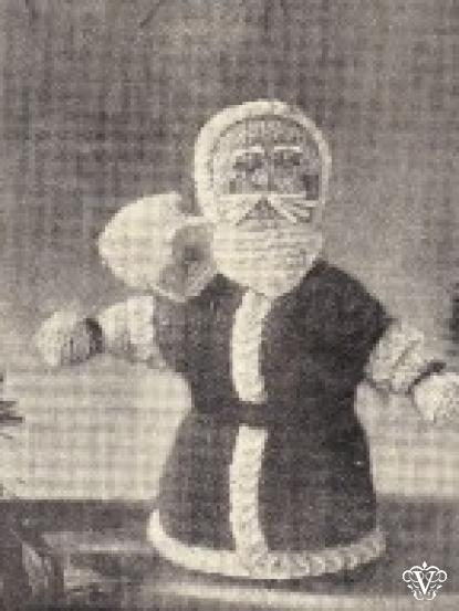 Vintage Tiny Santa Knitting Pattern