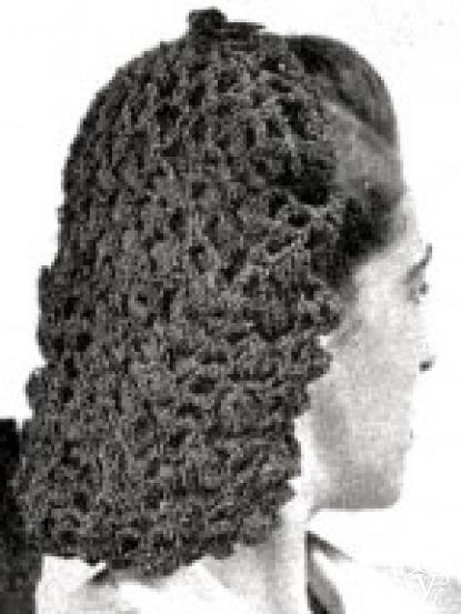 1940s Wartime Snood Crochet Pattern
