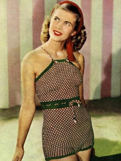 1940s Starlet Swimsuit Swimming Costume Knitting Pattern