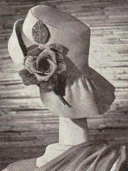 1940s wartime unusual flap back hat sewing pattern