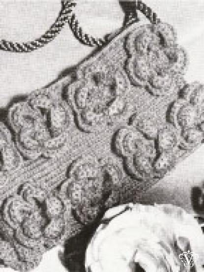 1950s Knit And Crochet Flower Bag Pattern