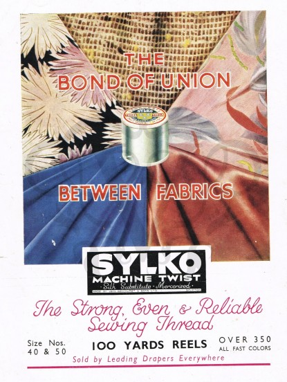 1930s Original Vintage Advert Sylko machine twist