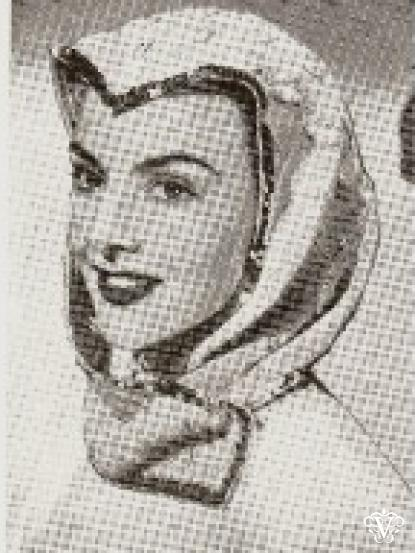 1940s Wartime Lace Scarf Hood Knitting Pattern