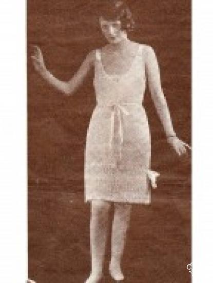 1920s Slip Dress Crochet Pattern
