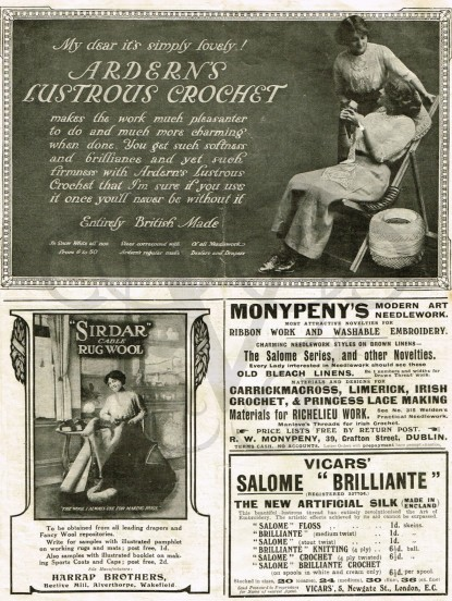 Vintage Adverts for Needlecrafts 1910 instant download