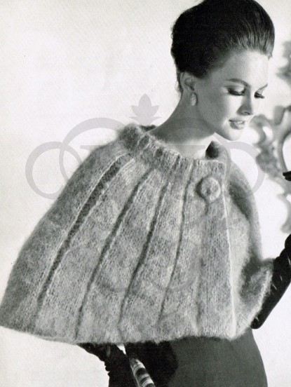 Vintage Knitting pattern-How to make a 1950s shoulder c...