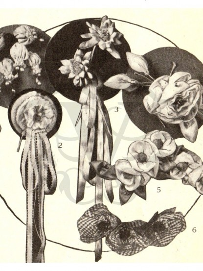 How to make 6 1920s fabric flowers sewing patterns