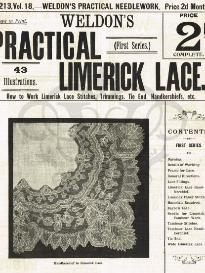 How to make Limerick Lace- PDF Victorian digitalised in...