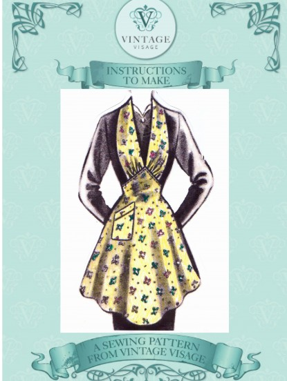 How to make a 1940s pretty shaped apron- sewing pattern