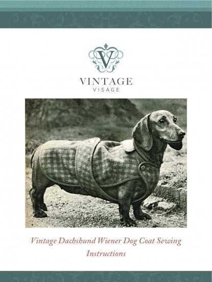 How To Make A Vintage Dachshund Dog Coat Sewing Pattern