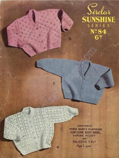 18 Vintage Very Old Baby Knitting Patterns Download Pdf