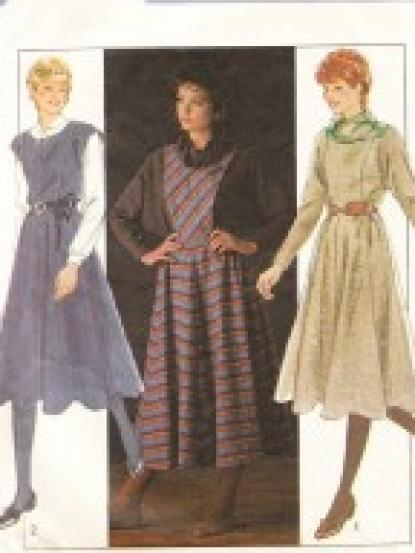 Typically 1980s dress and pinafore dress with full skirt original ...