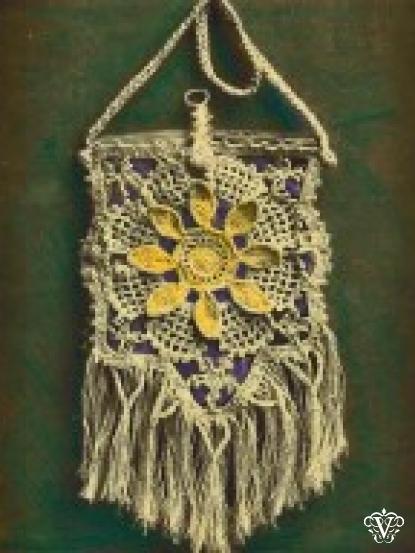 1940s Zig Zag Clutch Bag Crochet Pattern