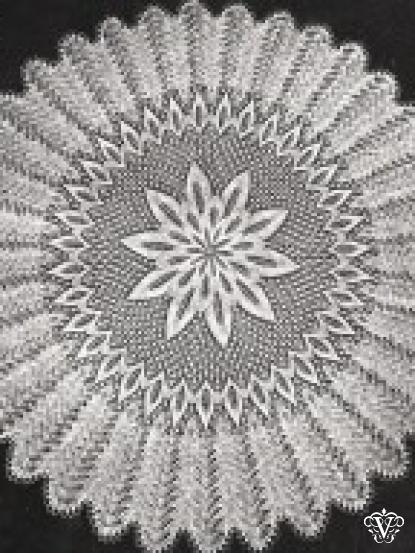 d75c33869 Vintage knitting pattern for intricate round baby christening shawl