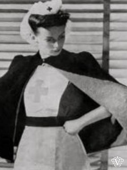 1940s Vintage Wartime Nurses Cape Knitting Patten