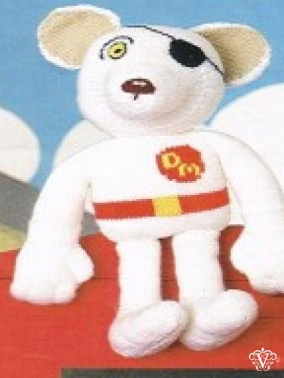 Vintage Dangermouse Knitted Toy Knitting Pattern