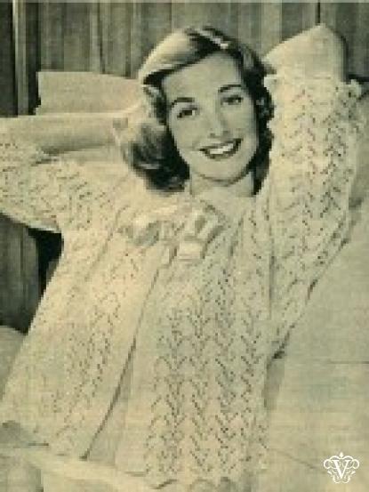 Vintage 1950s Knitting Patterns 6 Designs Including Lace Bedjacket