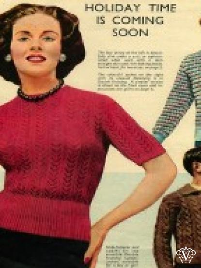 Vintage 1950s Knitting Patterns 7 Designs Including Ladies Jackets