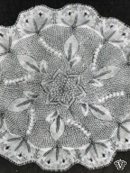 Vintage Round Baby Christening Shawl Knitting Pattern