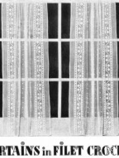 Vintage 1930s40s Filet Lace Crochet Curtains Pattern
