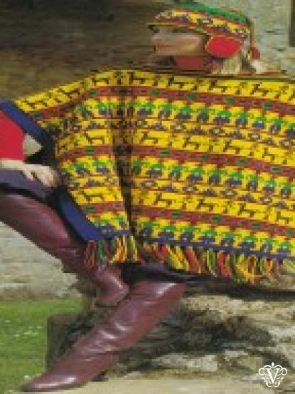 Vintage Inca Poncho And Hat Knitting Pattern