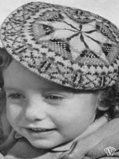 childrens fair isle beret knitting patterns- 3 designs