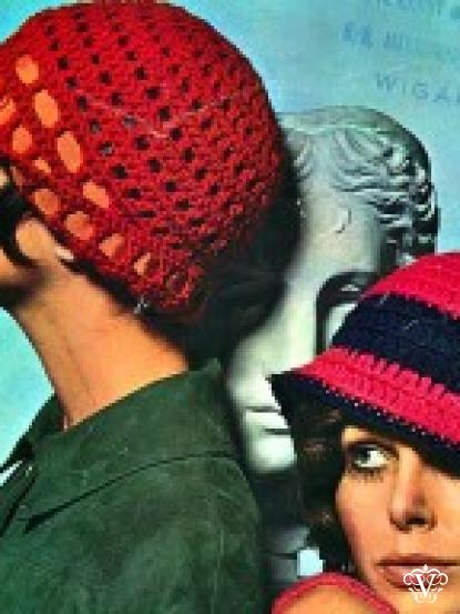 2 1960s Flapper Style Crochet Pull On Hats Patterns