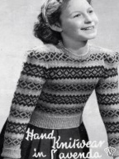 girls fair isle design jumper knitting pattern