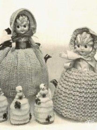 Vintage Very Old Doll Tea Cosies And Egg Cosy Crochet Patterns
