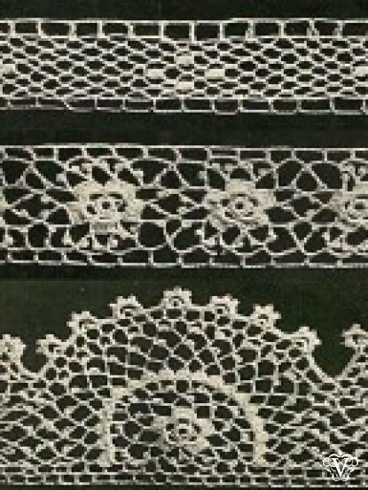 3 Vintage Pretty Irish Crochet Lace Edgings Crochet Pattern Pdf
