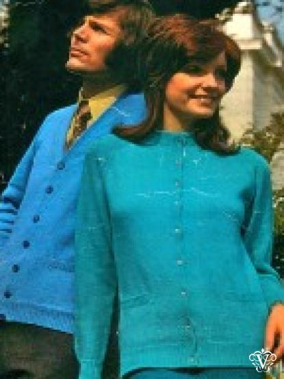 Raglan Sleeve Cardigan Vintage Knitting Pattern Pdf 4 Ply 34 48 Inch