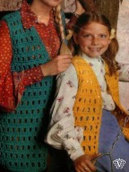 1960s chunky openwork crochet lace waistcoat 28-38 inch chest