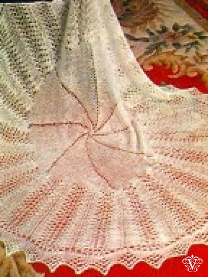 Lace Baby Heirloom Christening Shawl Vintage Knitting Pattern