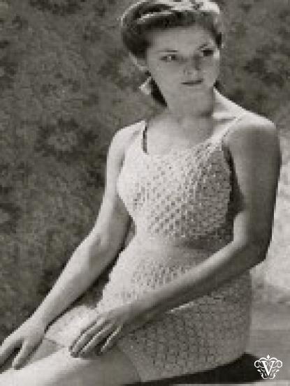 Womens 1940s Swimsuit Swimming Costume Beachwear