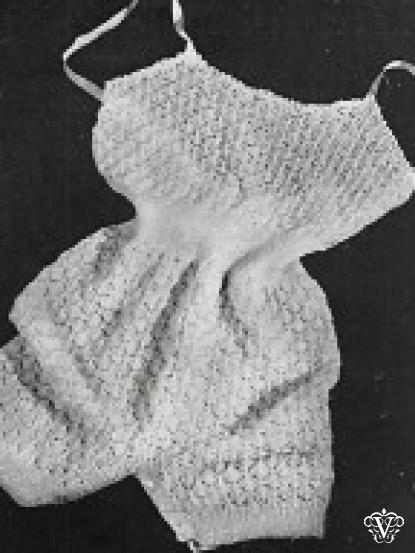 Wartime Knitting Patterns : 1940s wartime lace camiknickers vintage knitting pattern